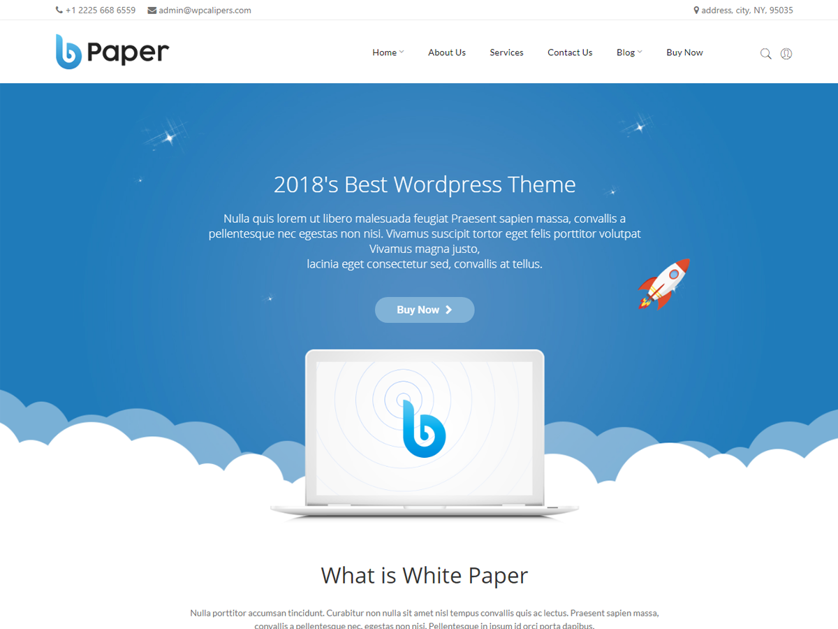 Blue Paper – Responsive WordPress Theme