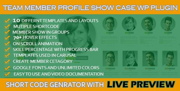 WordPress Team Profile Showcase