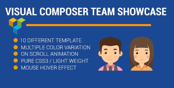 visual composer Team Profile showcase